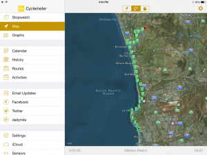Cyclemeter map review on iPad